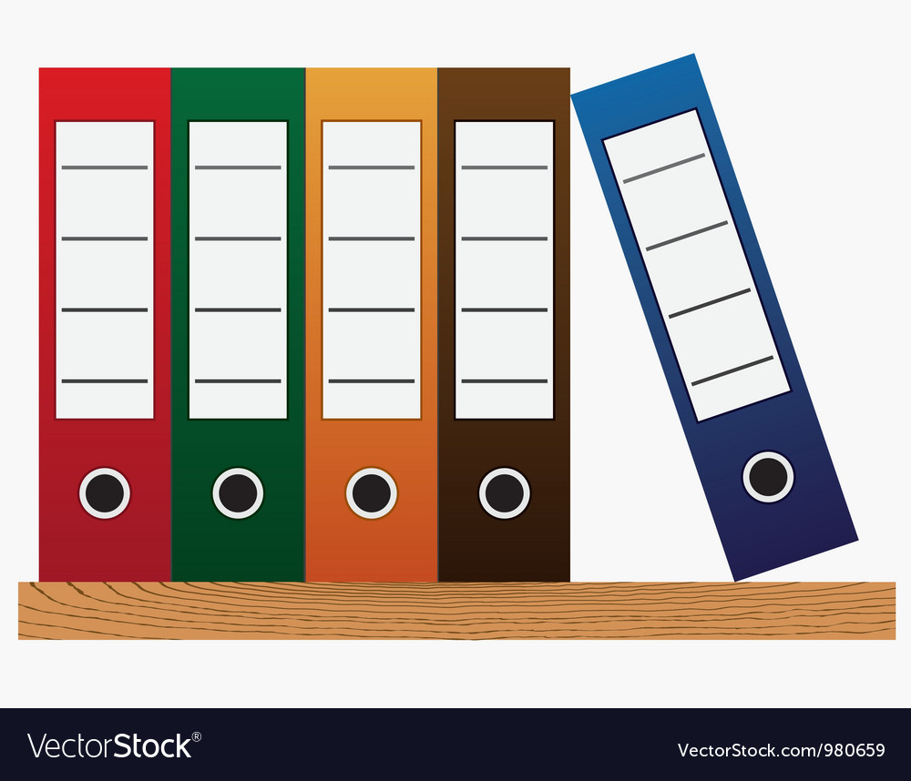 Office folders vector