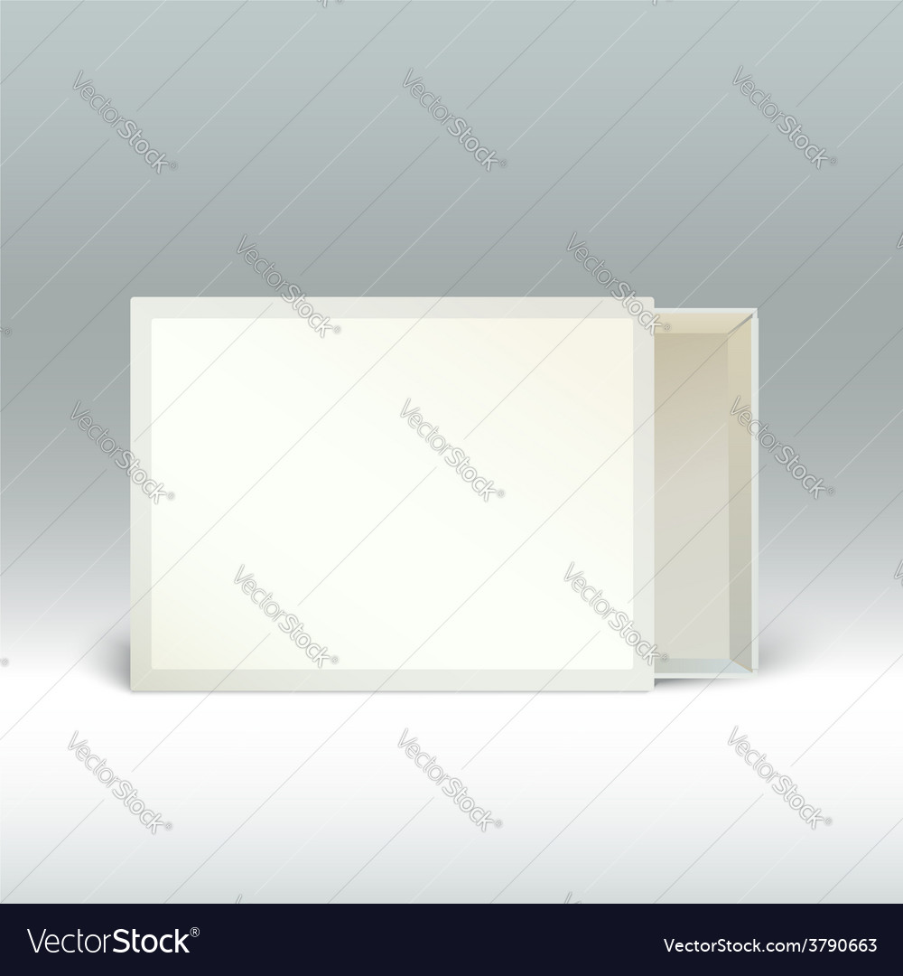 Blank matchbox standing on the edge isolated vector