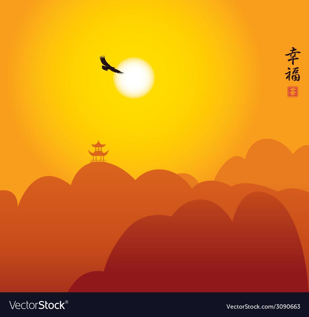 China landscape vector