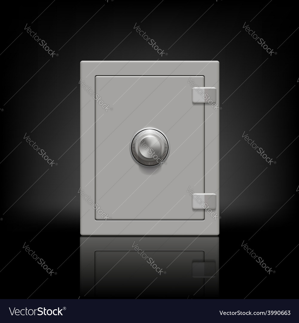 Metal safe vector