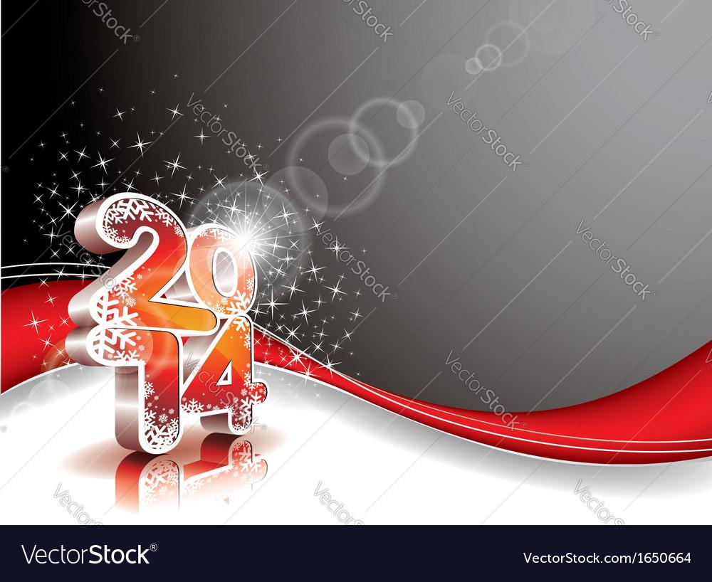 Happy new year 2014 celebration background vector