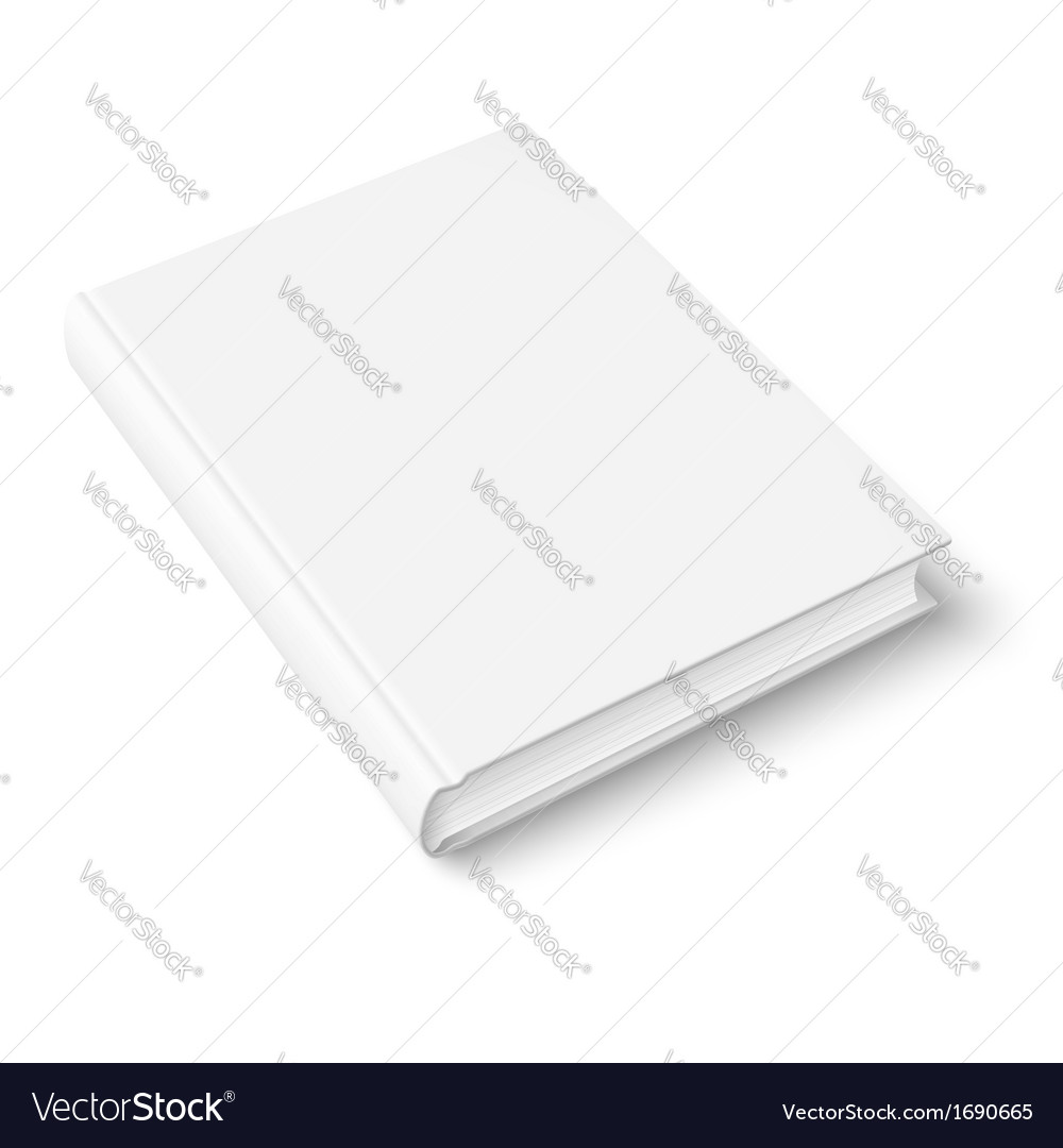 Blank book template vector