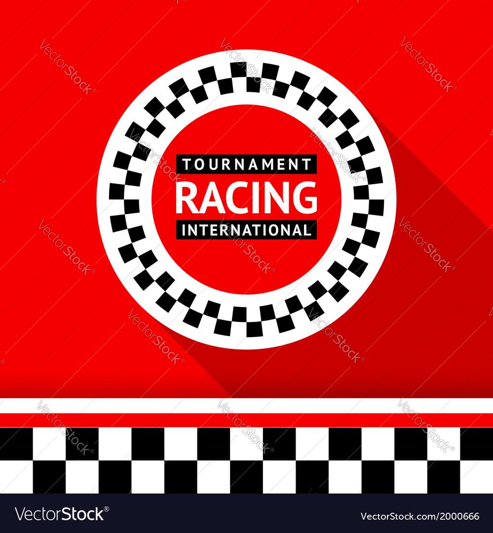 Racing badge 06 vector