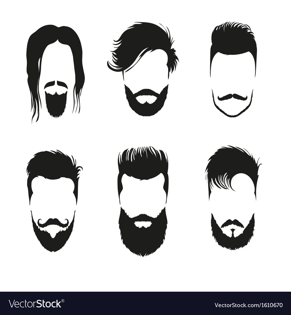 Fashion silhouette hipster style set vector