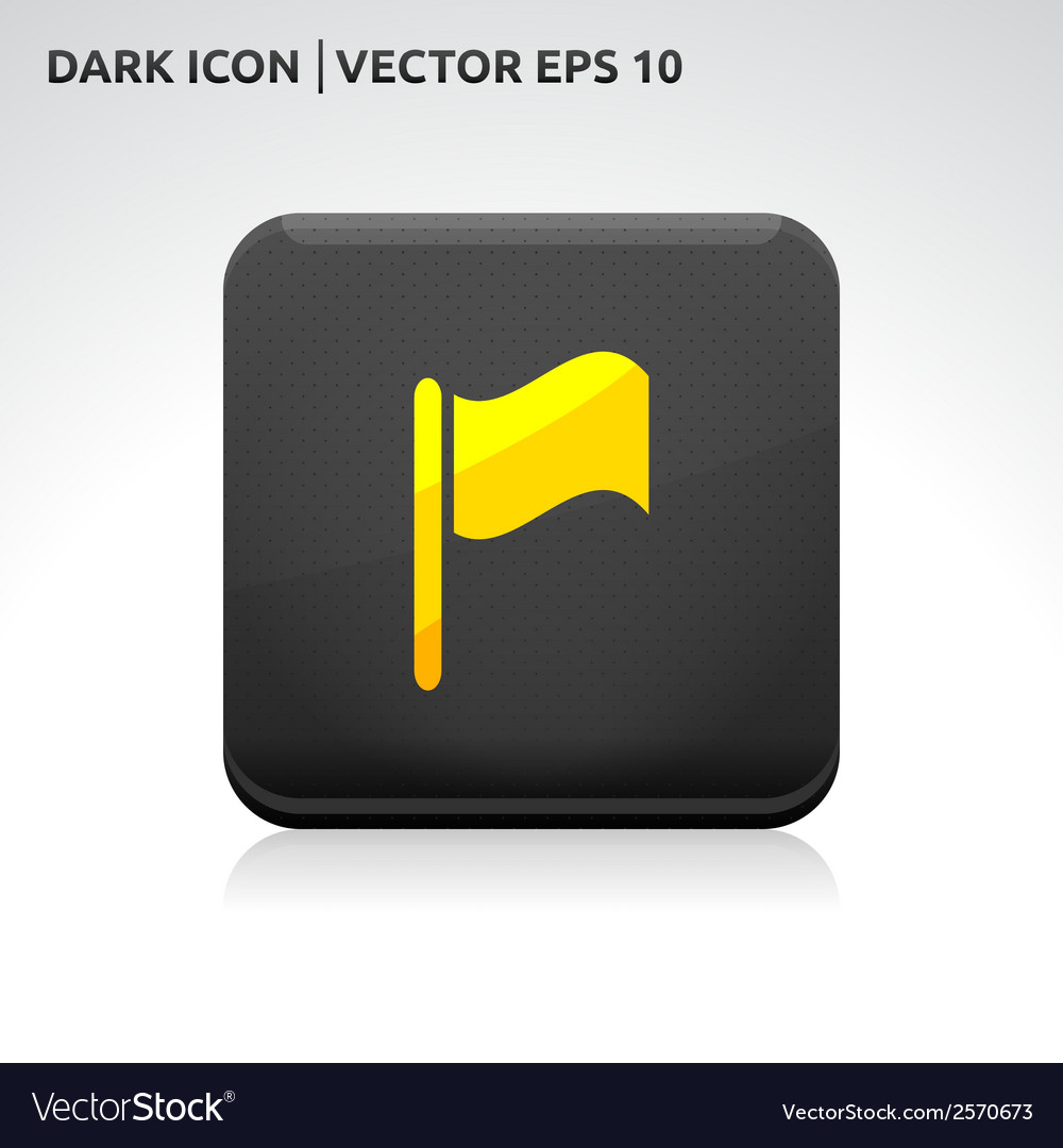 Flag events icon gold vector