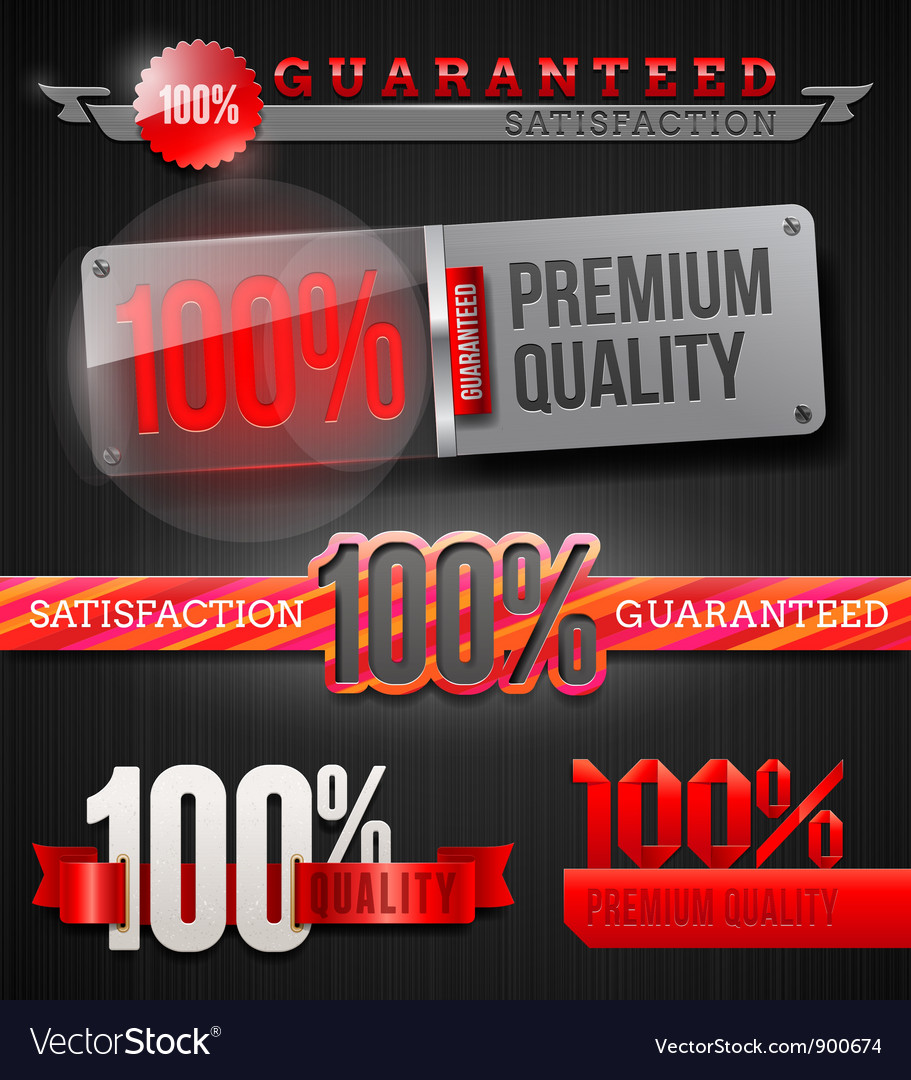 Signs and emblems of high quality labels vector