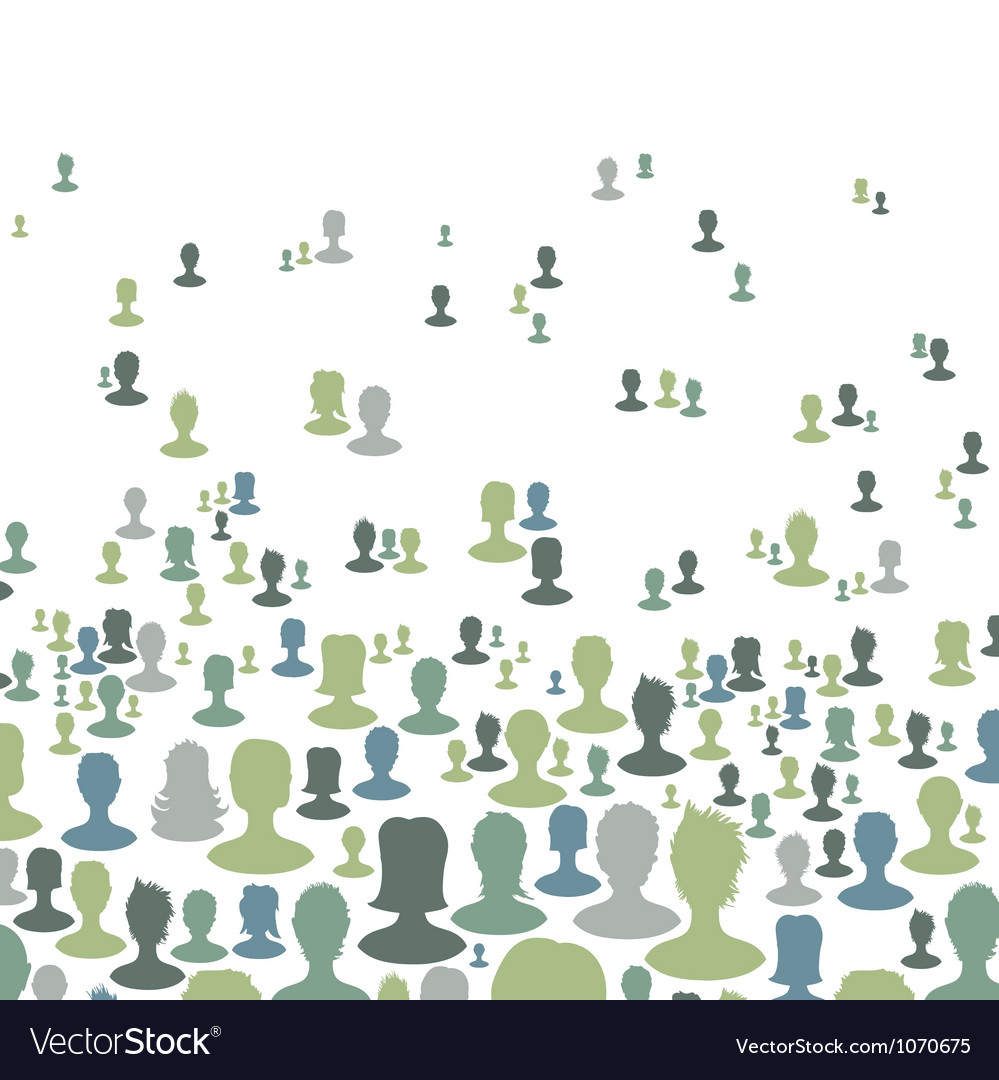 Social network concept background vector