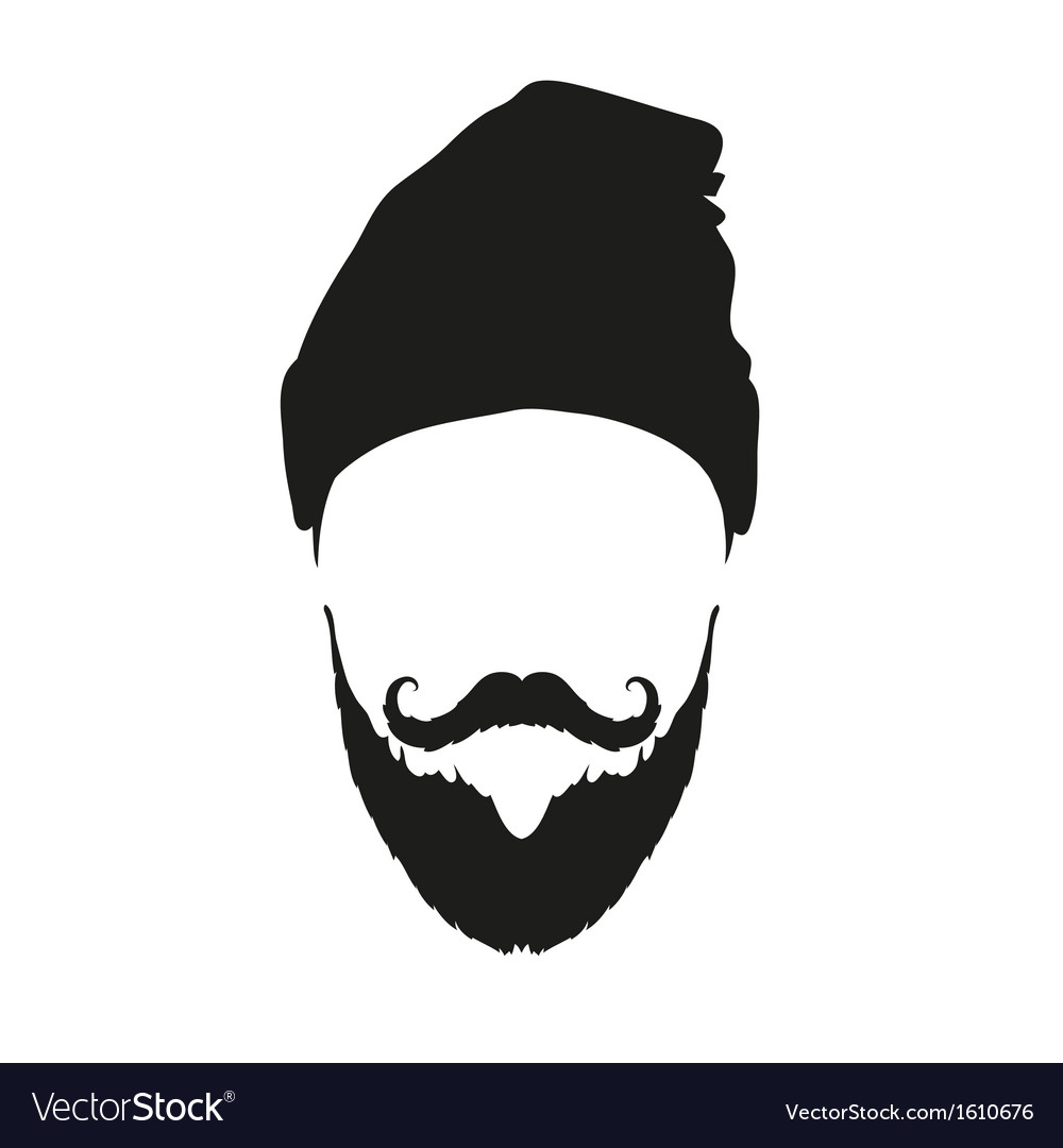 Fashion silhouette hipster style vector