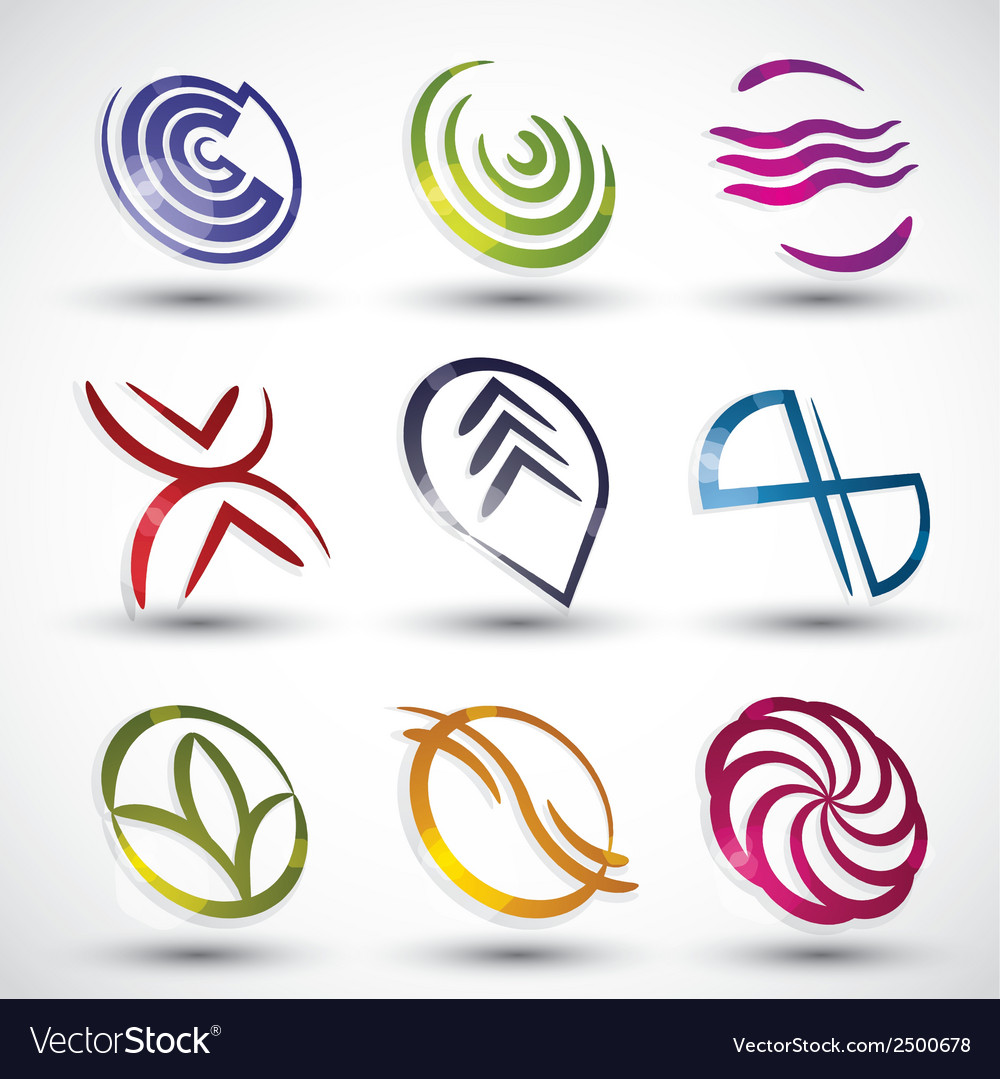 Abstract contemporary style icons 2 vector