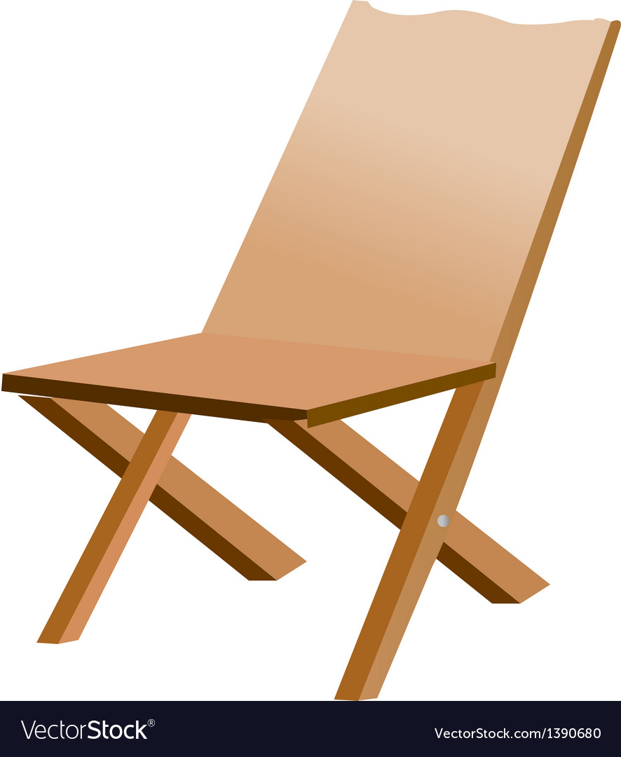 A view of a chair vector