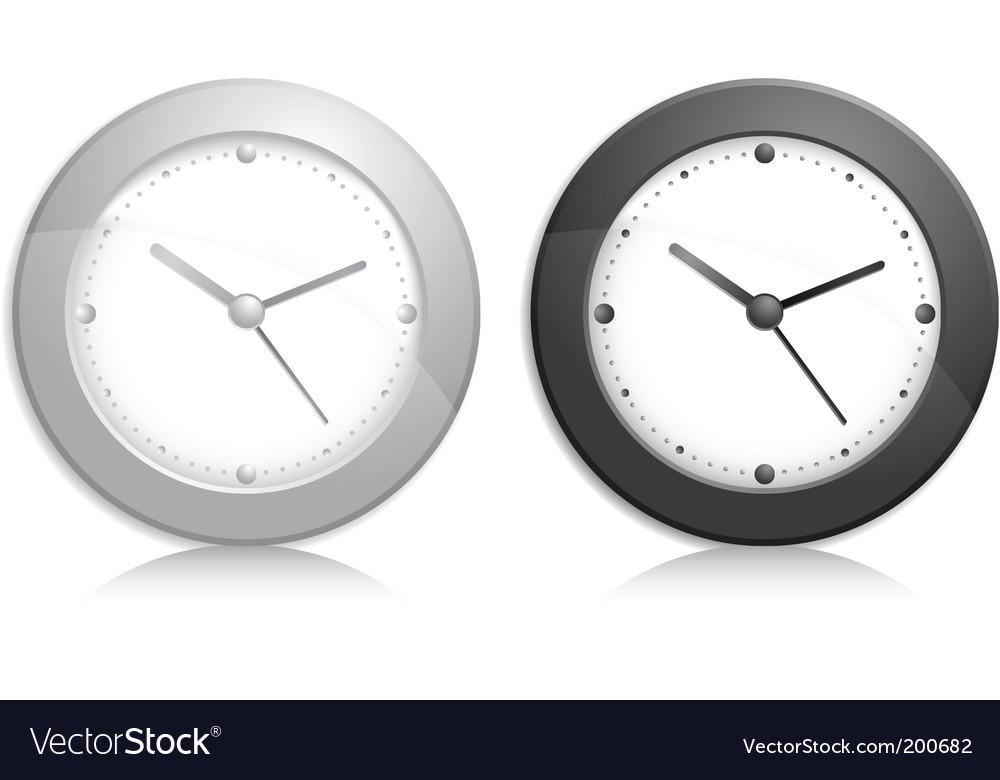 Wall clock object vector