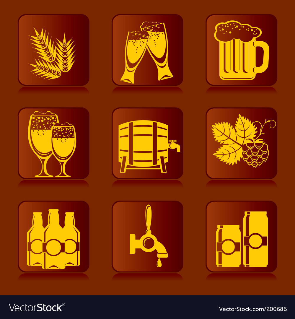 Beer icons vector