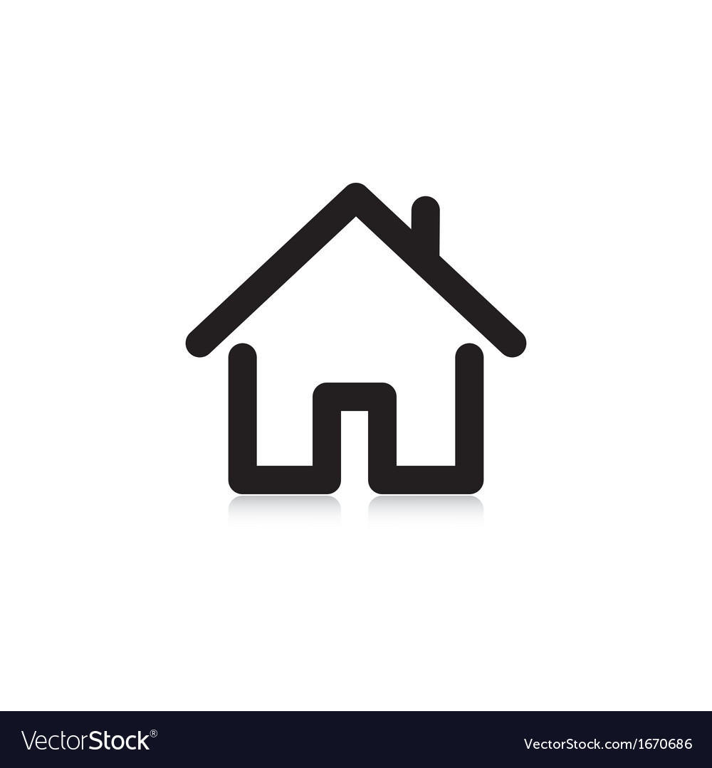 House with a pipe vector
