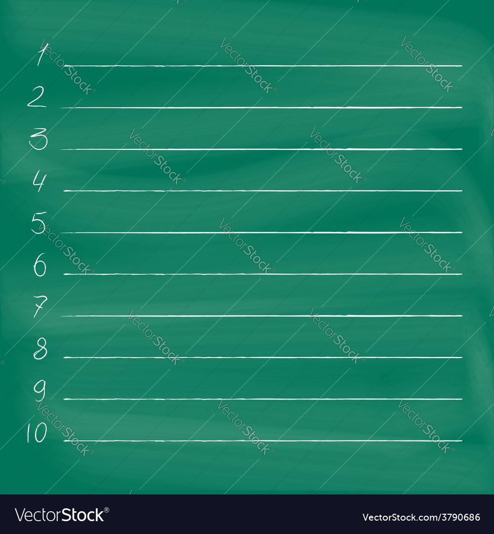 To do list on blackboard vector