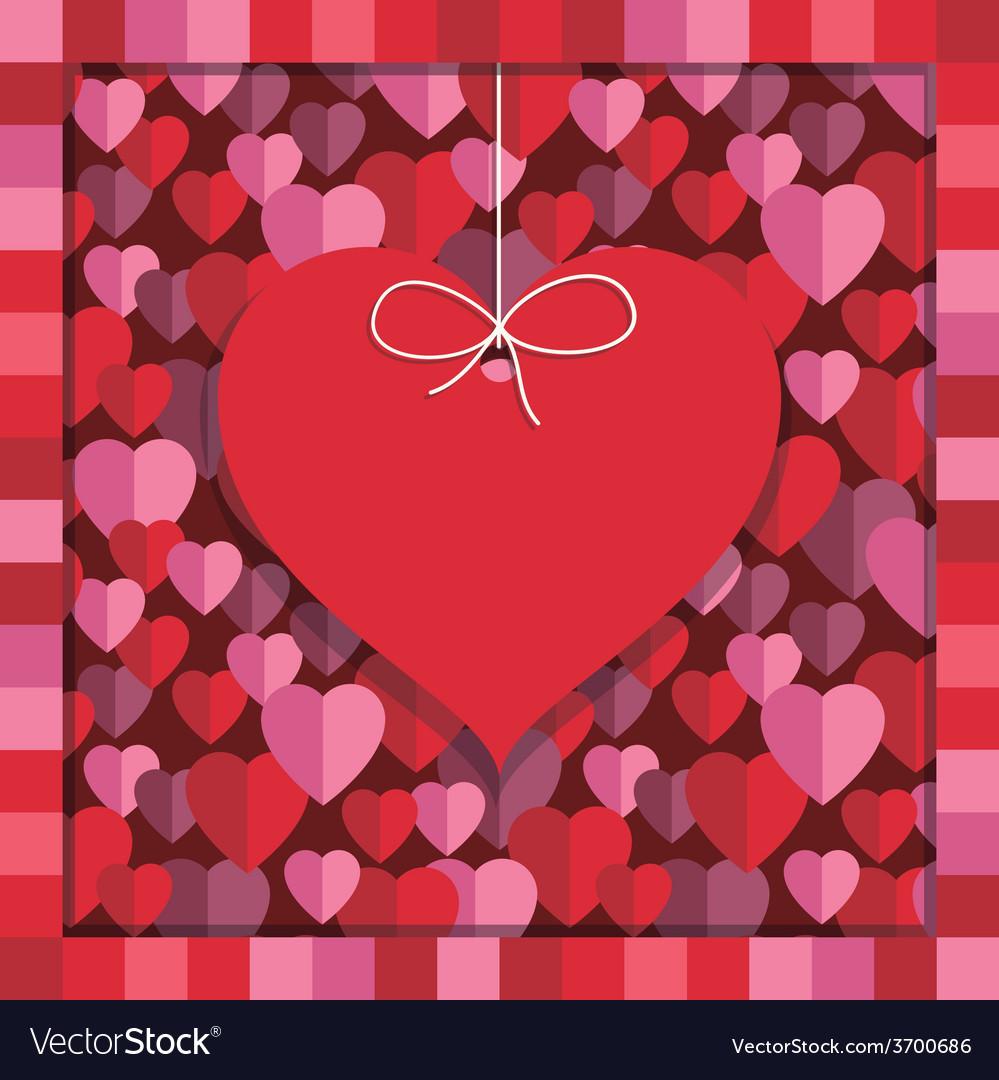 Valentine decoration vector