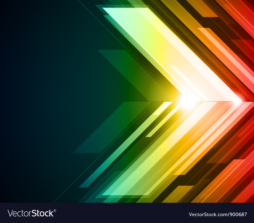Abstract technology light background vector