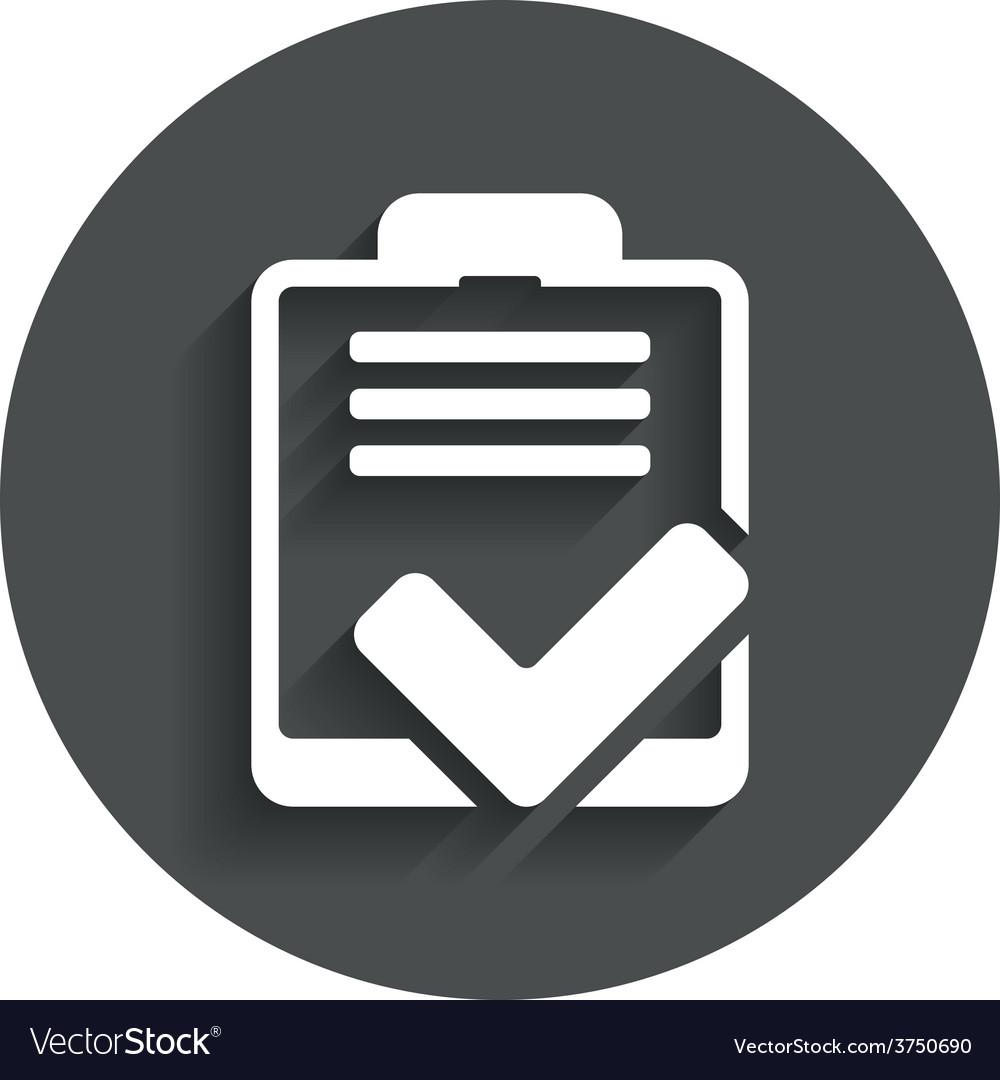 Checklist sign icon control list symbol vector
