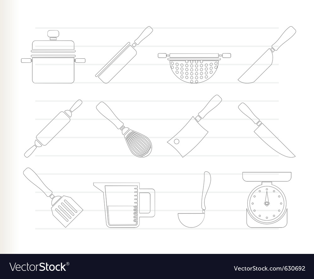 Cooking equipment vector