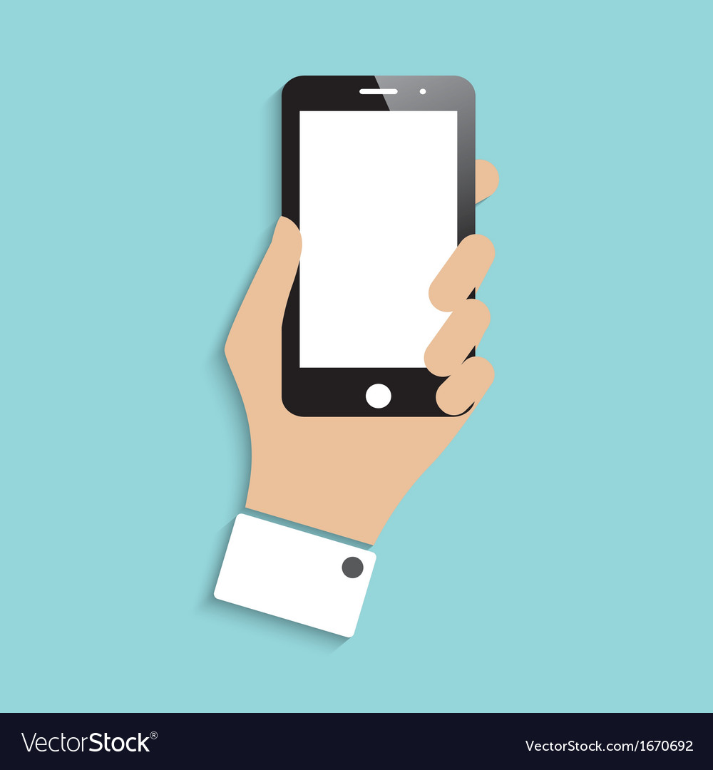 Smartphone in hand vector
