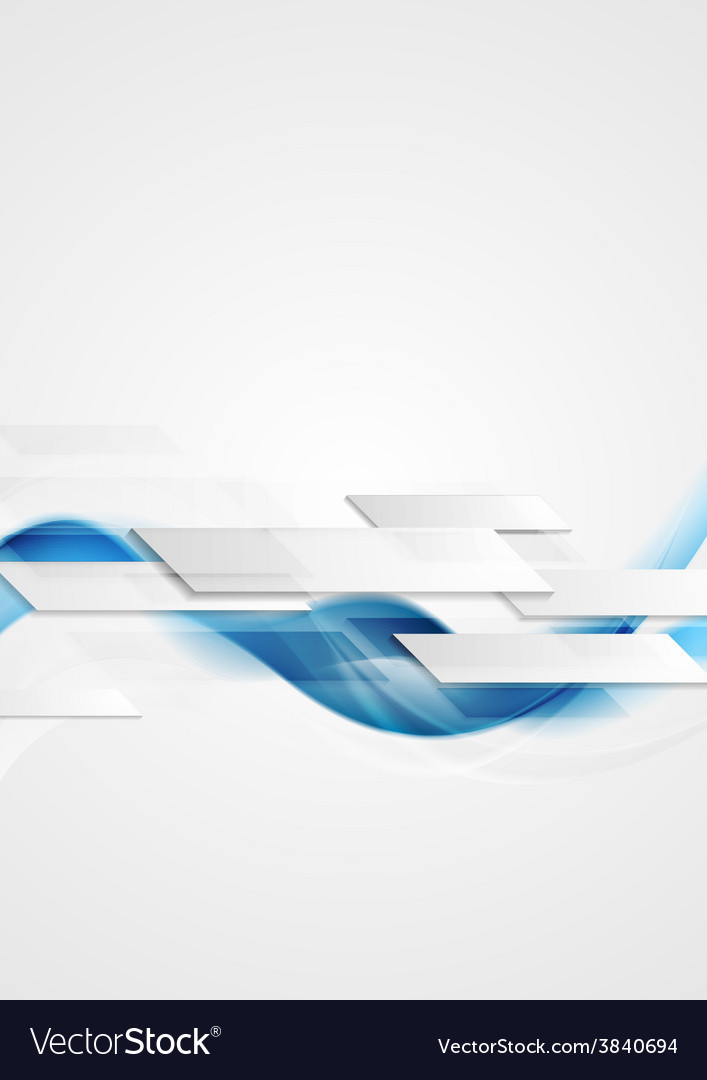 Blue shiny hi-tech motion waves background vector
