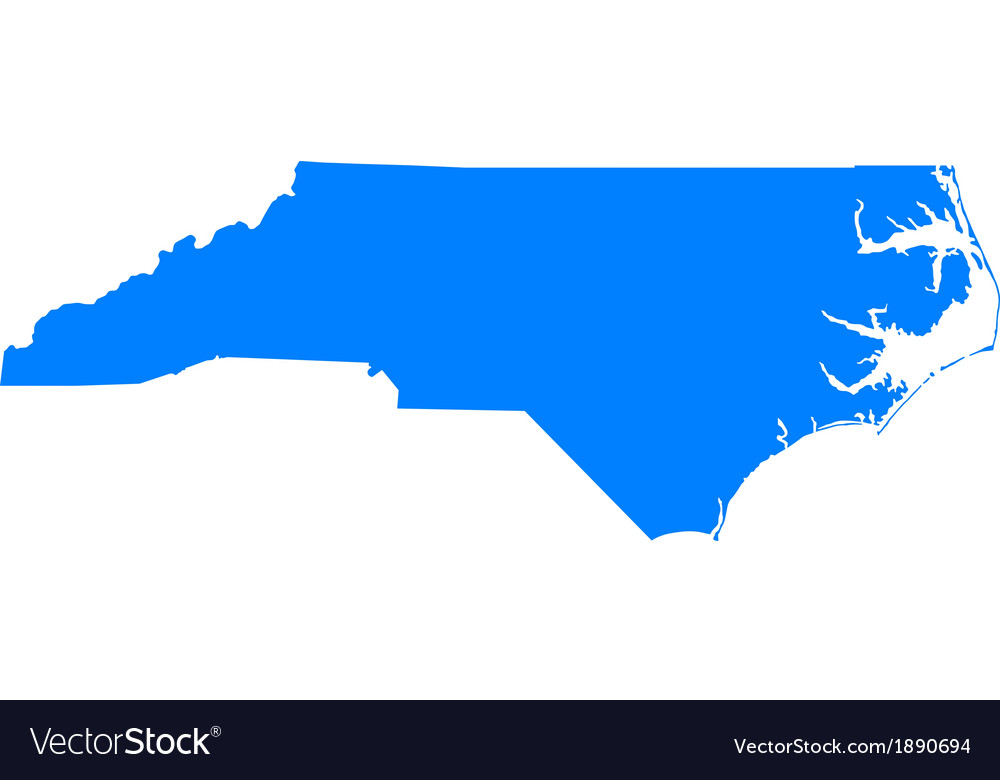 Map of north carolina vector