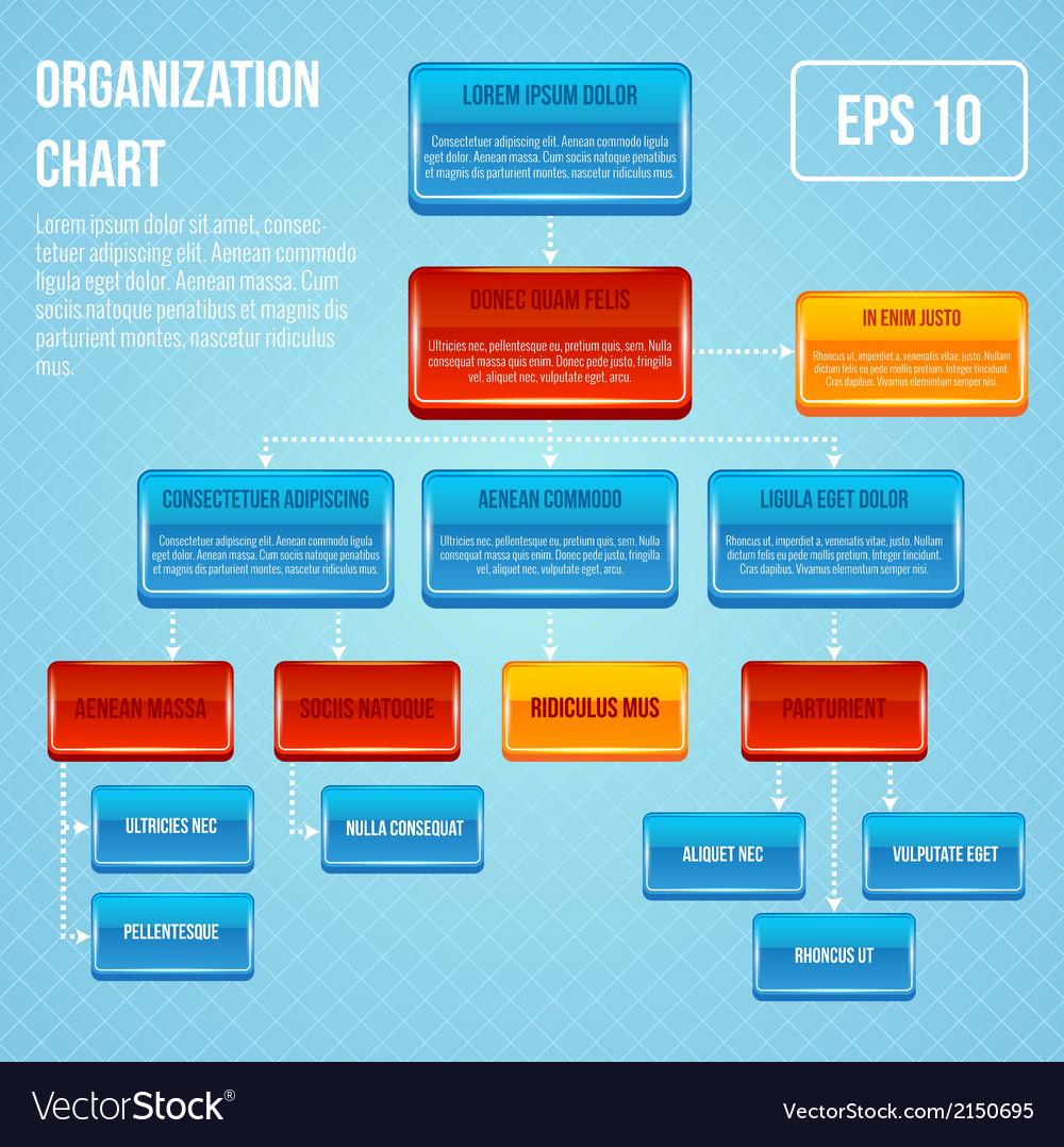 Organizational chart 3d concept vector