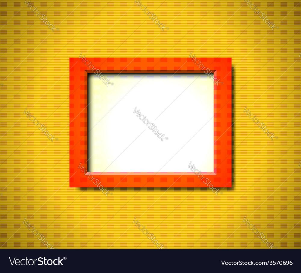 Red rectangular frame vector