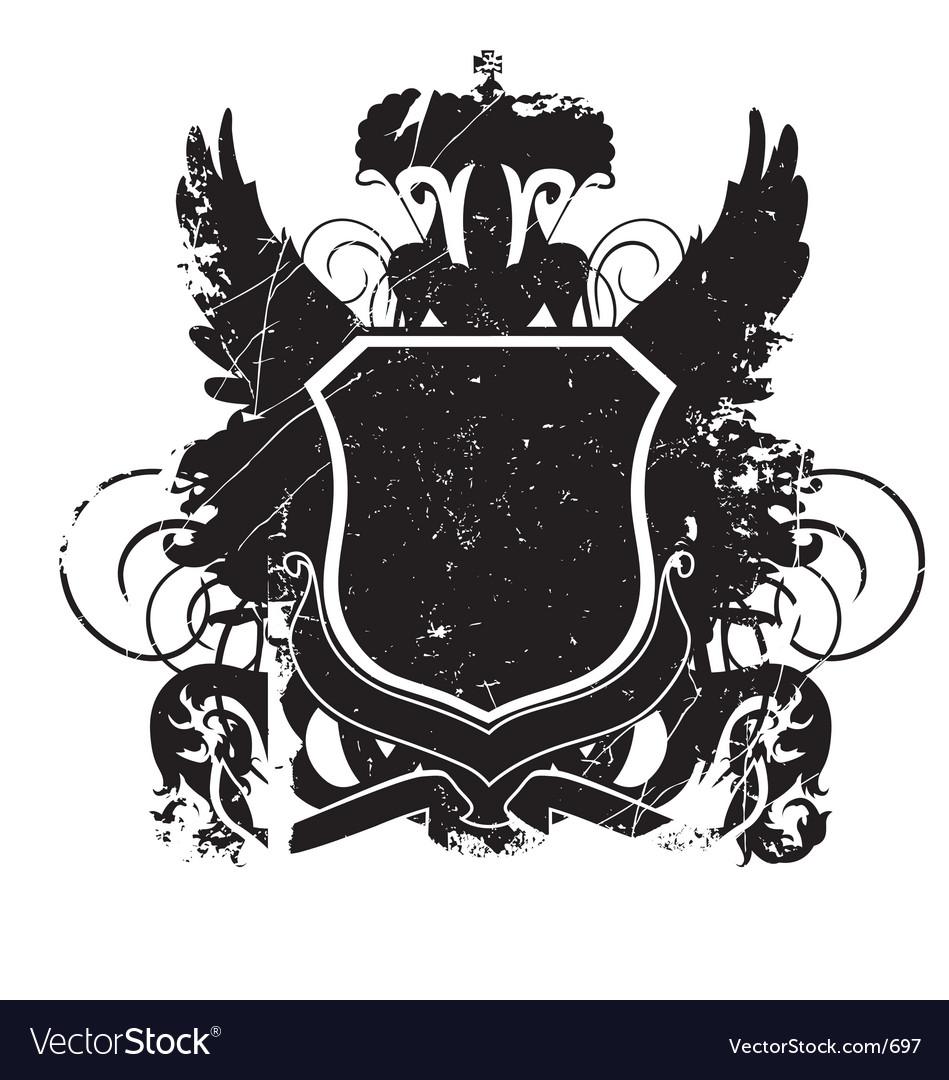 Heraldry shield version 01 grunge vector