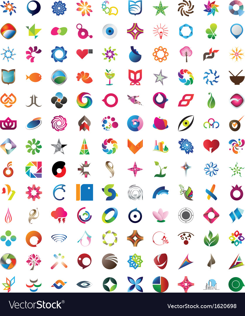 Huge collection of trendy icons vector