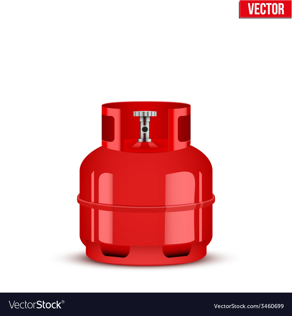 Propane gas small cylinder vector