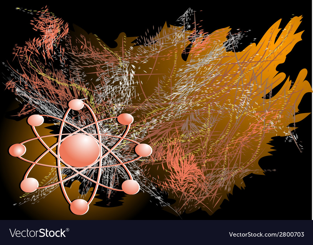 Abstract electron model vector
