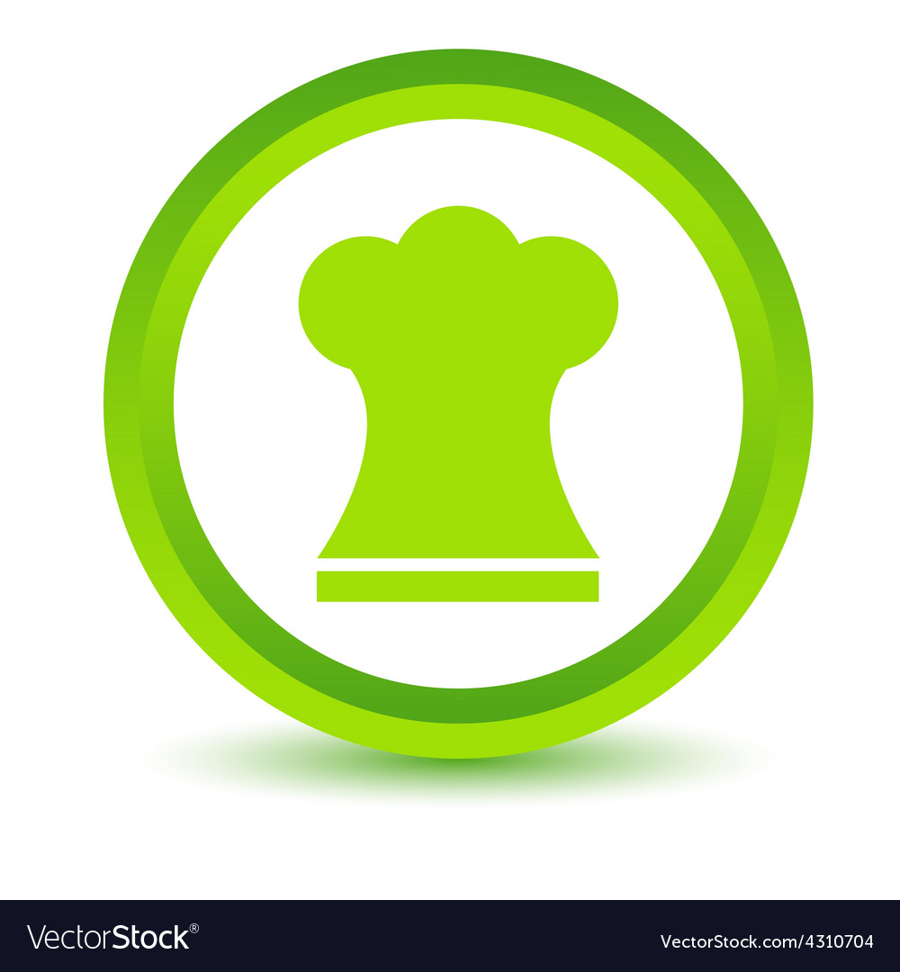 Green chef hat icon vector