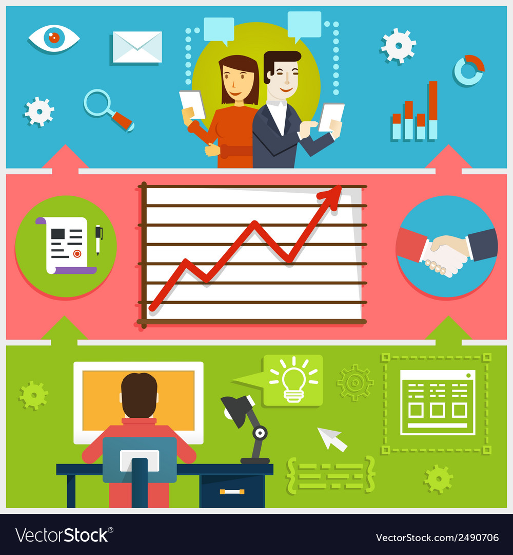 Infographic of creative process web design vector