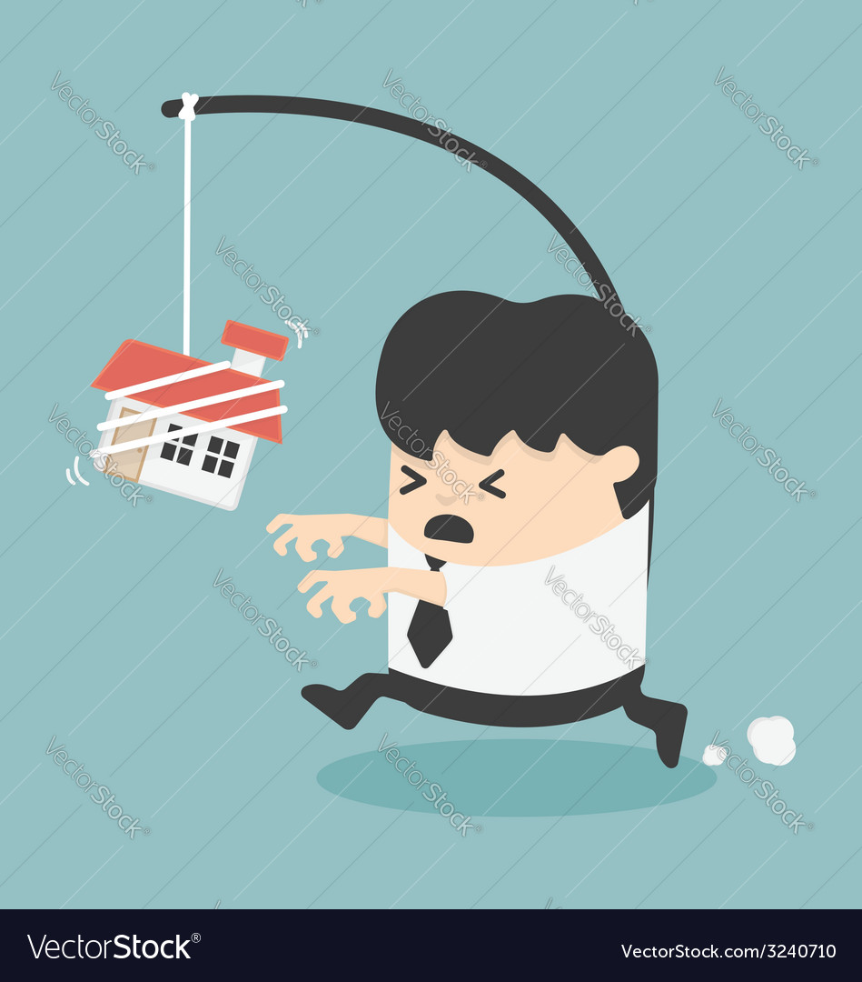 Businessman want a house vector