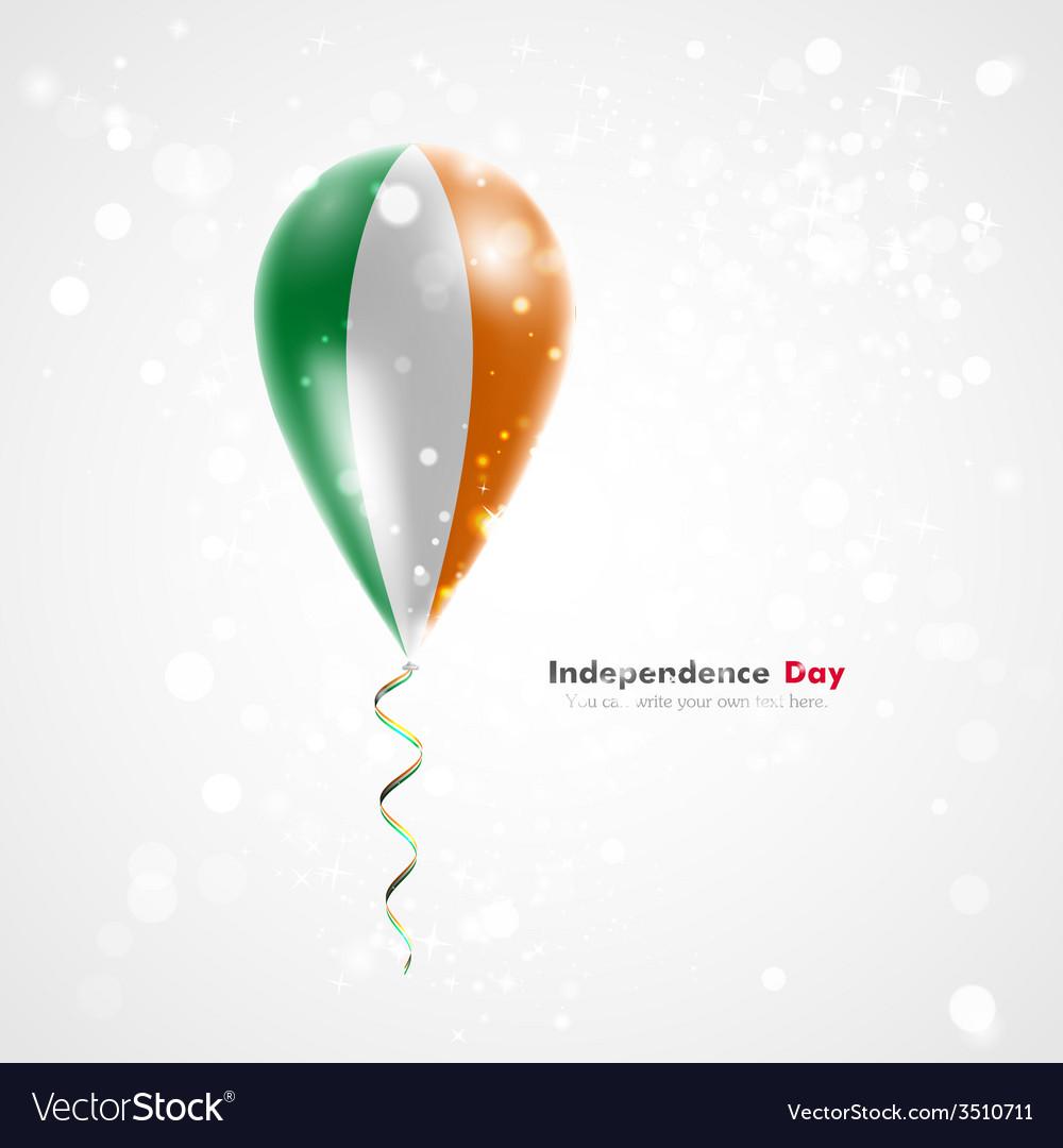 Flag of ireland on balloon vector