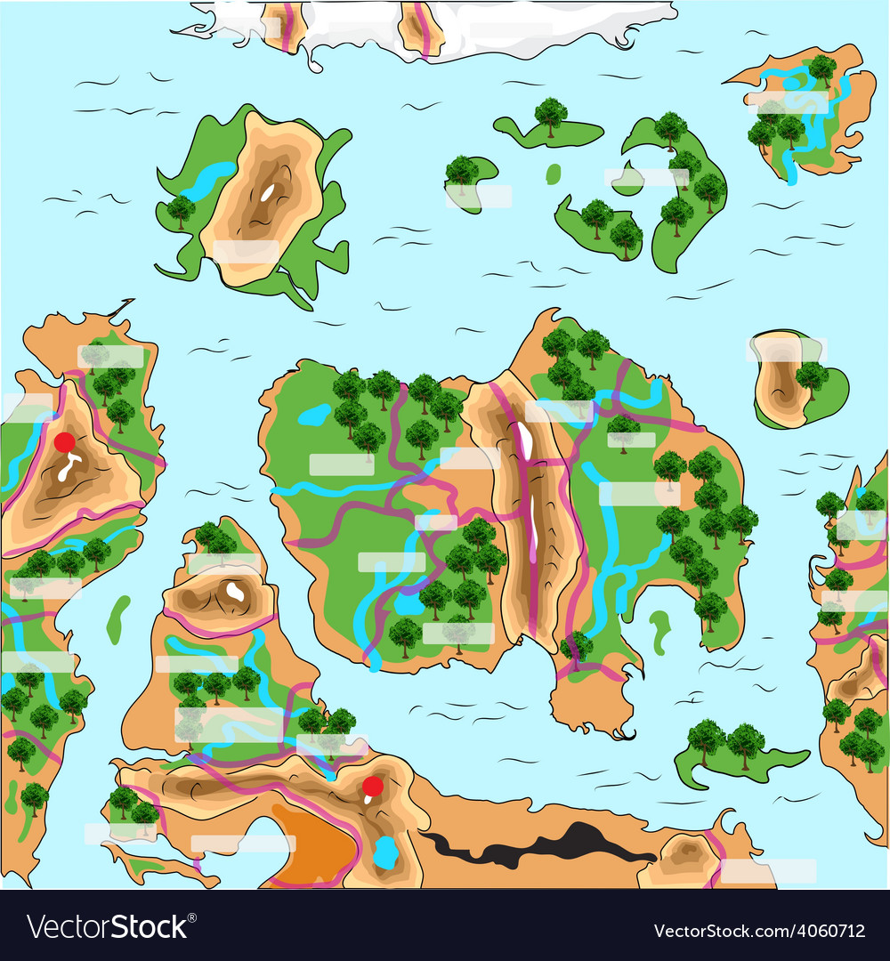 Game map vector