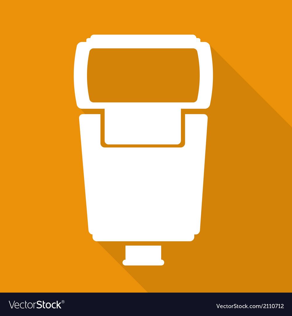 Photo camera flashlight vector