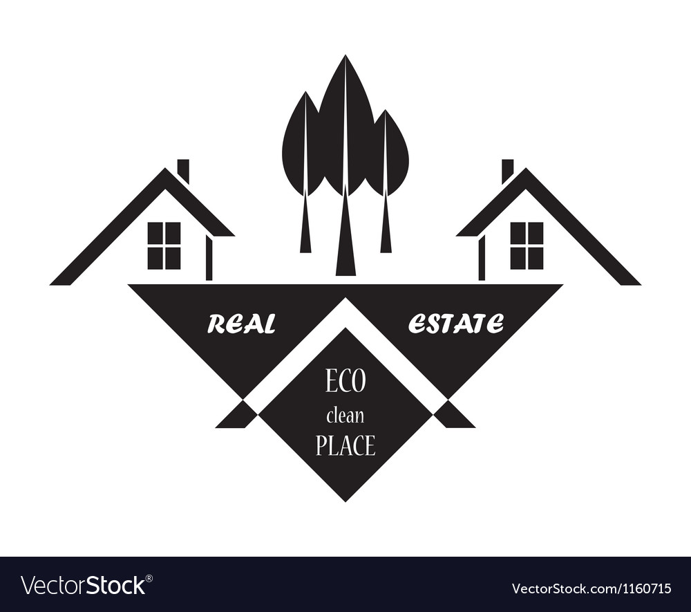 Real estate in eco clean place vector