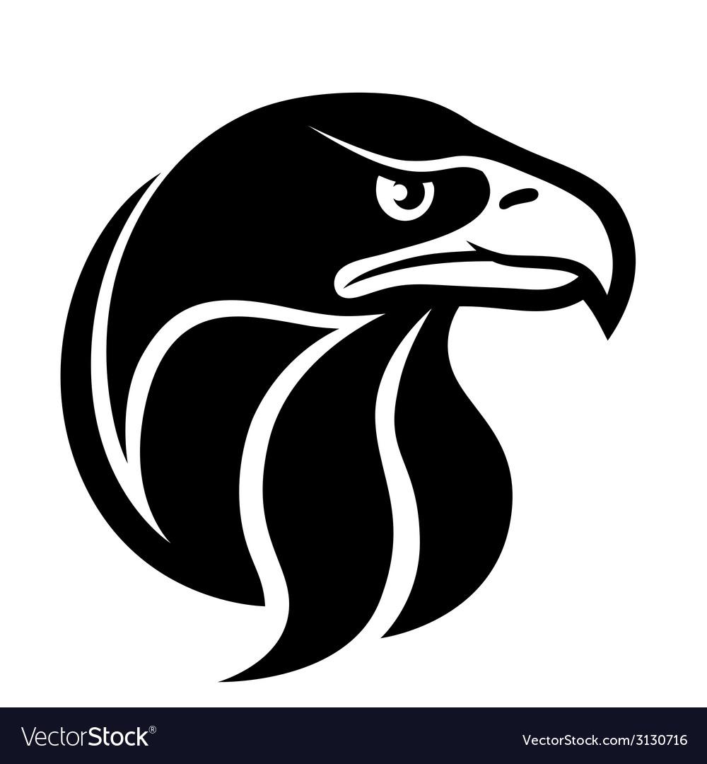 Eagle head symbol vector