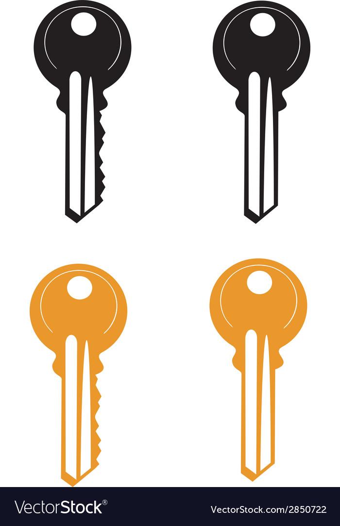 Door key vector