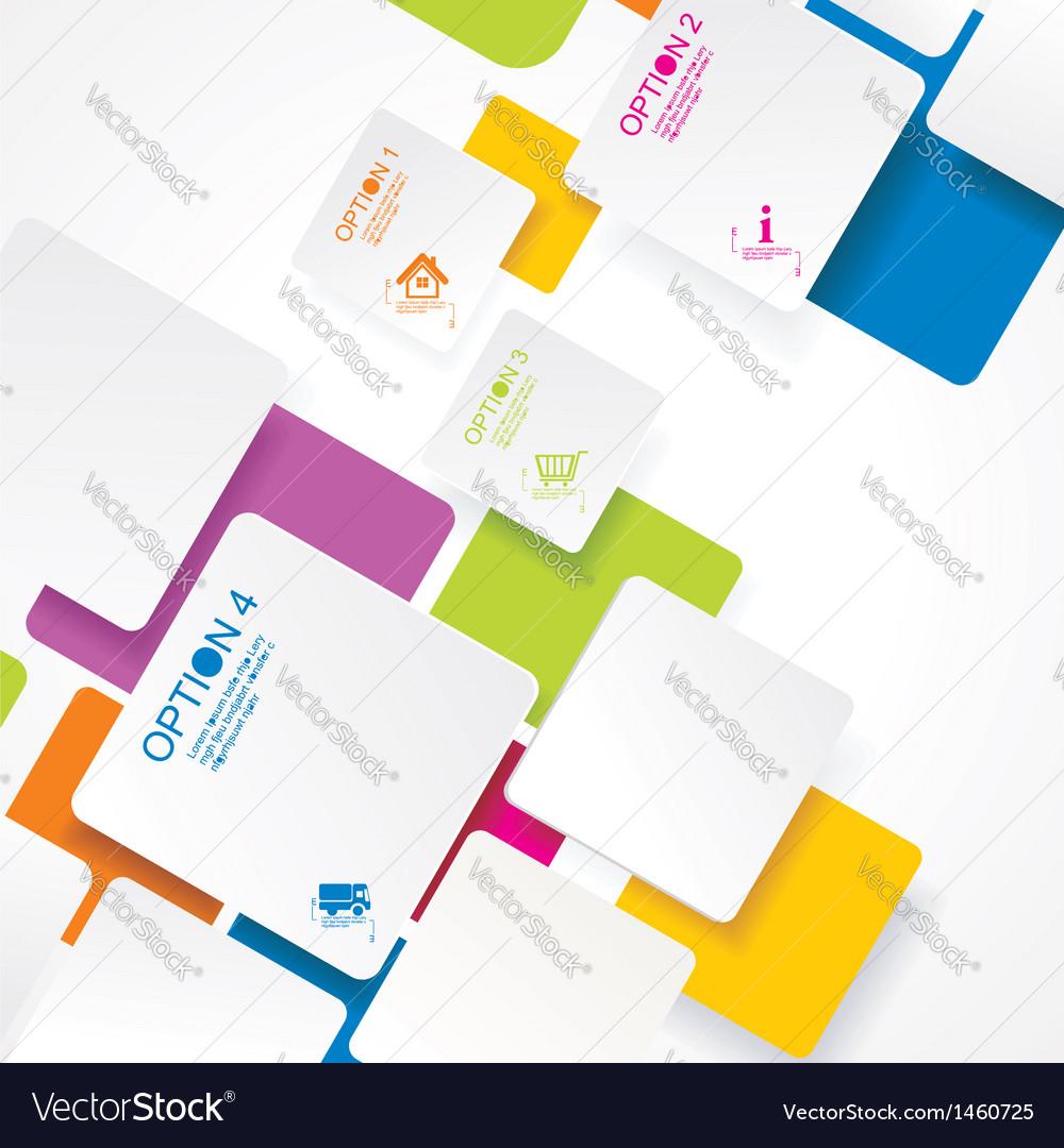 Eps10 abstract seamless color design vector