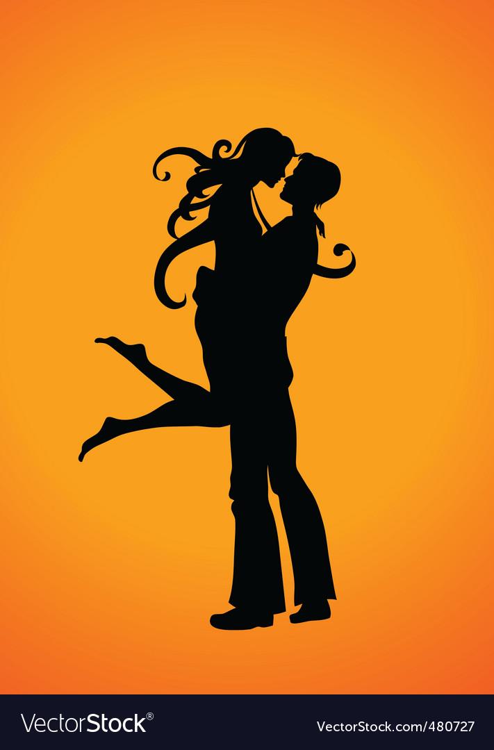 Romantic couple vector