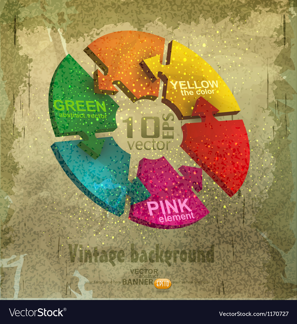 Vintage background with the block diagram vector