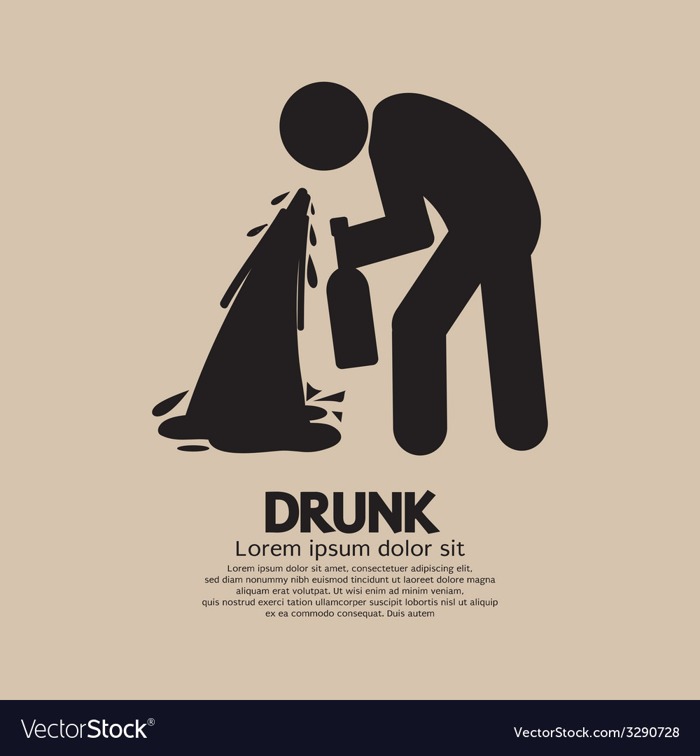 Drunk person graphic symbol vector