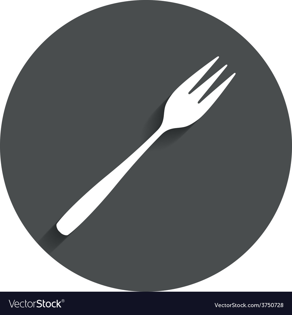 Eat sign icon diagonal dessert fork vector
