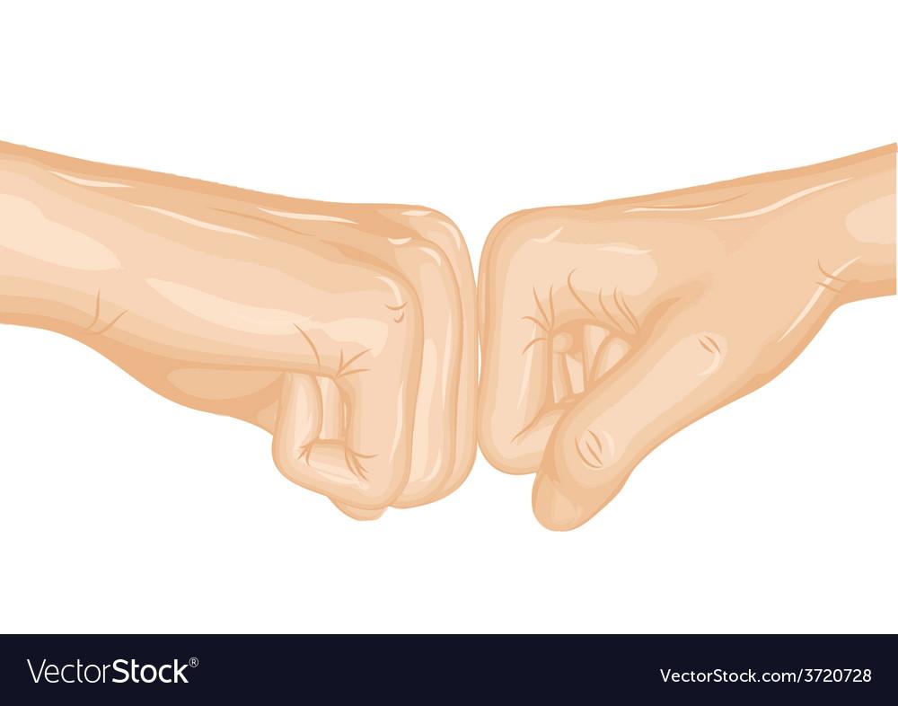 Fist bump vector