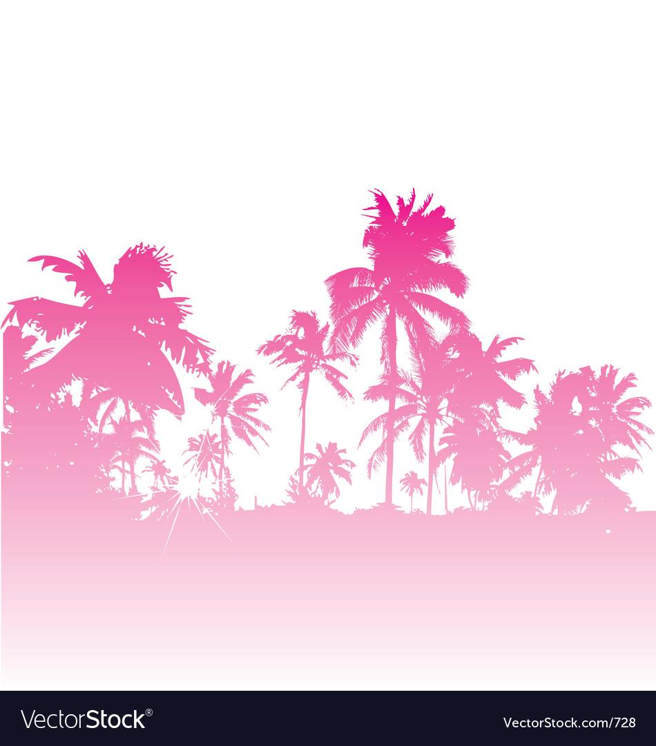 Tropical backdrop vector