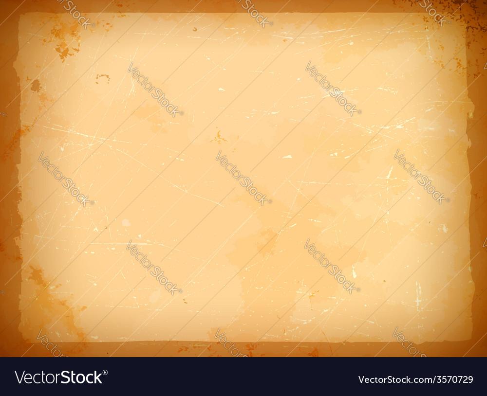 Aged paper frame vector