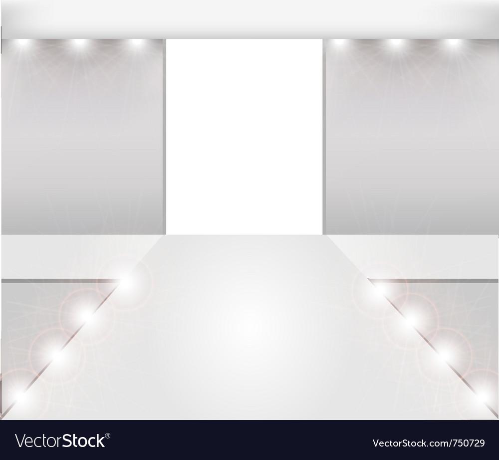 Empty fashion runway vector
