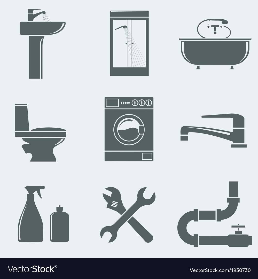 Sanitary engineering vector